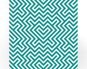 Beistelltisch - Geometrisches Design Grün