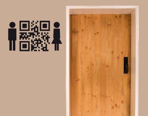 Wandtattoo No.UL1007 QR-Code WC