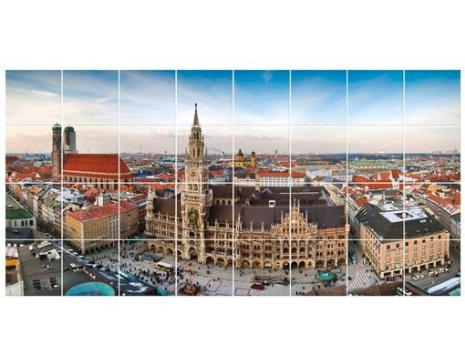 Fliesenbild - City of Munich