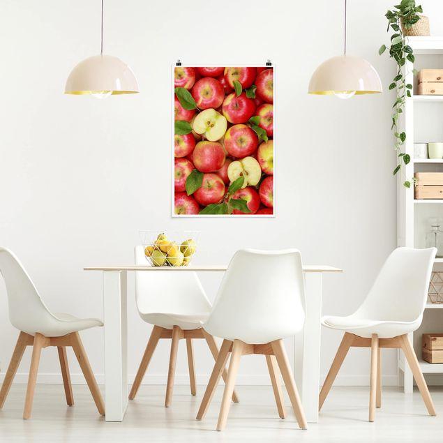 Poster - Saftige Äpfel - Hochformat 3:2