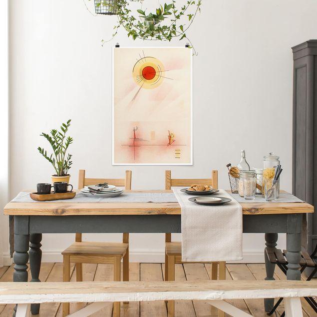 Poster - Wassily Kandinsky - Strahlen - Hochformat 3:2