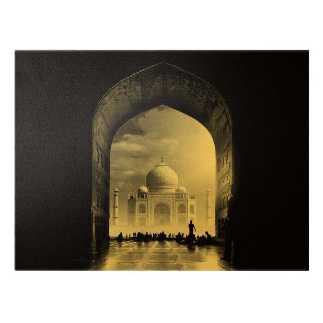 Leinwandbild Gold - Das Tor zum Taj Mahal - Querformat 4:3