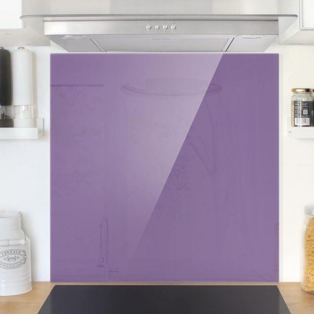 Glas Spritzschutz - Flieder - Quadrat - 1:1