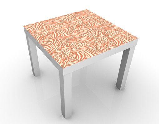 Beistelltisch - Zebra Design Orange