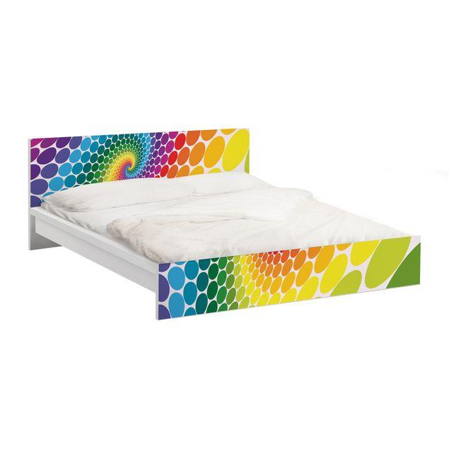 Möbelfolie für IKEA Malm Bett niedrig 140x200cm - Klebefolie Magic Points