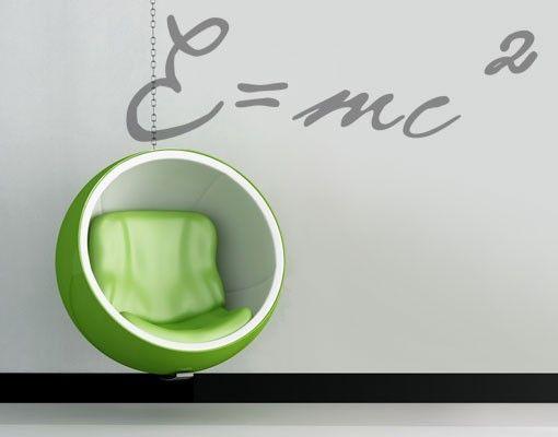 Wandtattoo No.UL1036 E=mc²