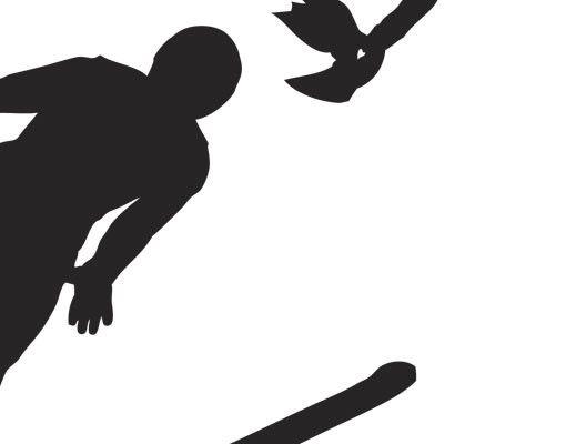 Wandtattoo Vögel No.UL1037 Skiflieger