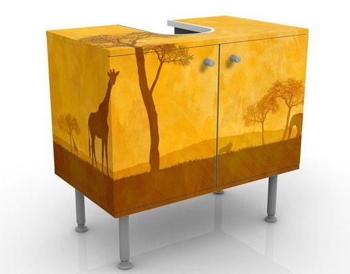 Waschbeckenunterschrank - Amazing Kenya - Badschrank Orange