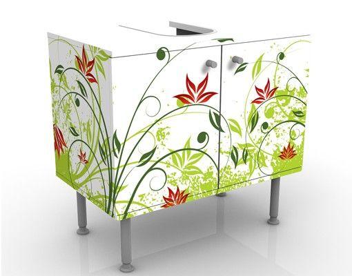 Waschbeckenunterschrank - April - Blumen Badschrank Bunt