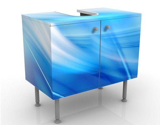Waschbeckenunterschrank - Aquatic - Badschrank Blau