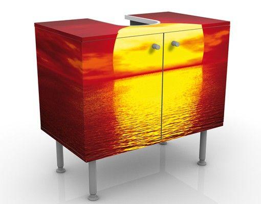 Waschbeckenunterschrank - Fantastic Sunset - Badschrank Orange Rot