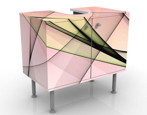 Waschbeckenunterschrank - Energy - Badschrank Rosa