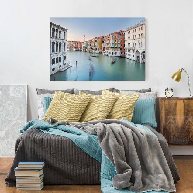 Leinwandbild - Canale Grande Blick von der Rialtobrücke Venedig - Querformat 2:3