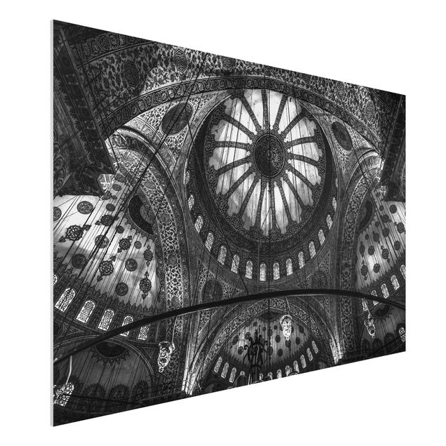 Forex Fine Art Print - Die Kuppeln der blauen Moschee - Querformat 2:3
