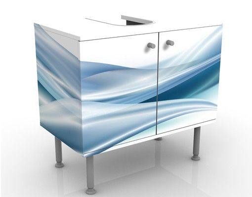 Waschbeckenunterschrank - Blue Dust - Badschrank Weiß Blau