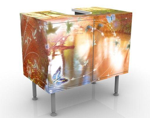 Waschbeckenunterschrank - No.CG86 Butterfly Wood - Badschrank