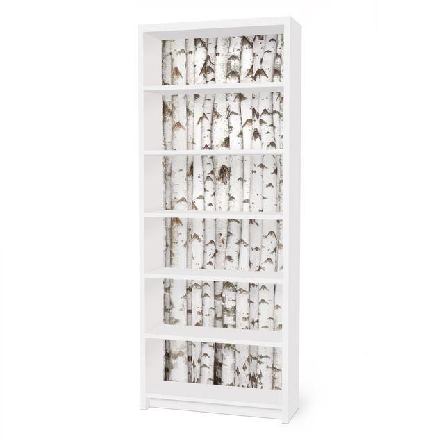 Möbelfolie für IKEA Billy Regal - Klebefolie No.YK15 Birkenwand