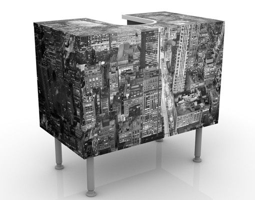 Waschbeckenunterschrank - Midtown Manhattan II - Badschrank Grau