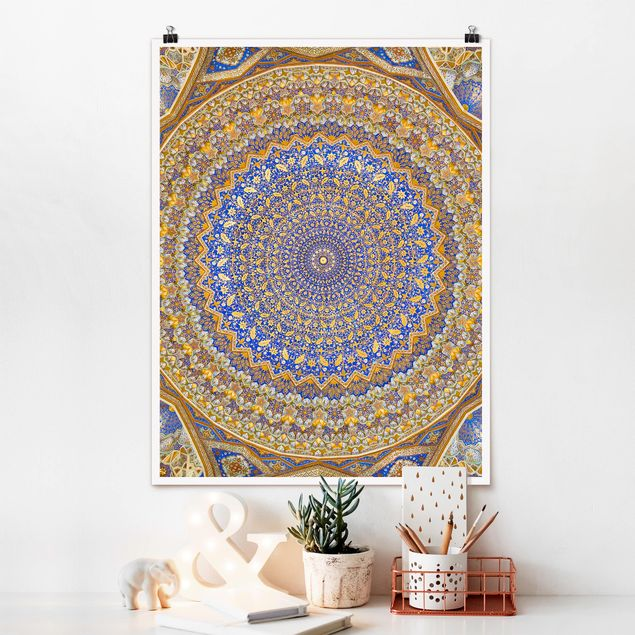 Poster - Dome of the Mosque - Hochformat 3:4