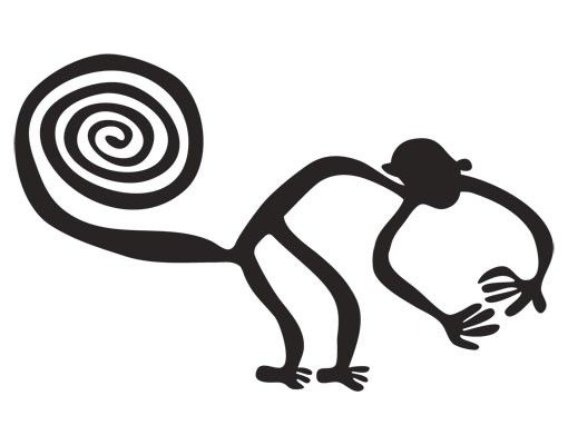 Wandtattoo Affe No.UL1040 Nazca Linien Affe