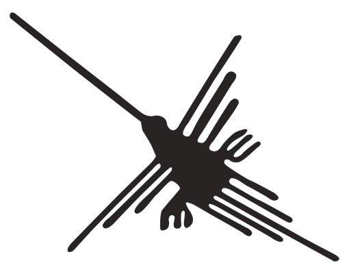 Wandtattoo No.UL1042 Nazca Linien Kolibri