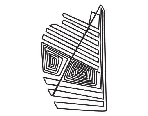 Fensterfolie - Fenstertattoo No.UL1050 Nazca Linien Geometrie - Milchglasfolie