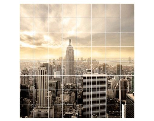 Fliesenbild - Manhattan Dawn