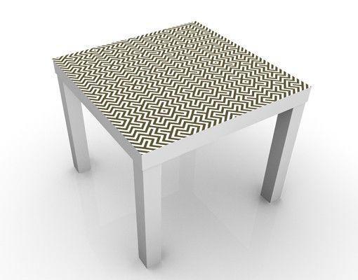 Beistelltisch - Geometrisches Design Braun