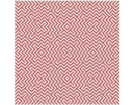 Beistelltisch - Rotes Geometrisches Streifenmuster