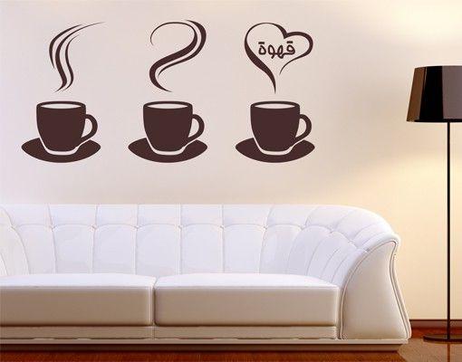 Wandtattoo Sprüche No.1425 Coffee Cups
