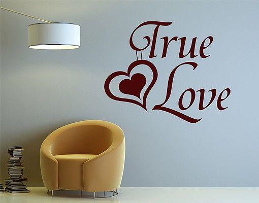 Wandtattoo Sprüche - Wandworte No.1430 True Love