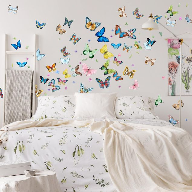 Wandtattoo - Schmetterlinge Aquarell XXL Set