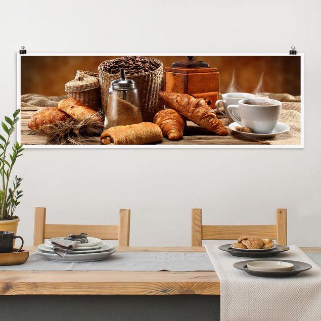 Poster - Frühstückstisch - Panorama Querformat