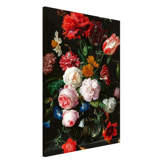 Magnettafel - Jan Davidsz de Heem - Stillleben mit Blumen in einer Glasvase - Memoboard Hochformat 3:2