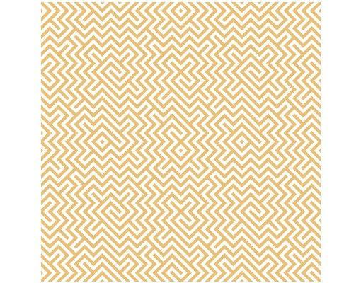 Beistelltisch - Geometrisches Musterdesign Gelb