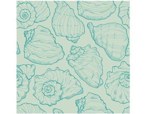 Beistelltisch - Meeresmuscheln Aqua