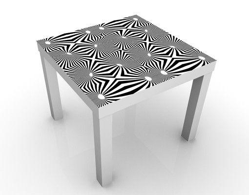 Beistelltisch - Abstraktes Schwarz-Weiß Design