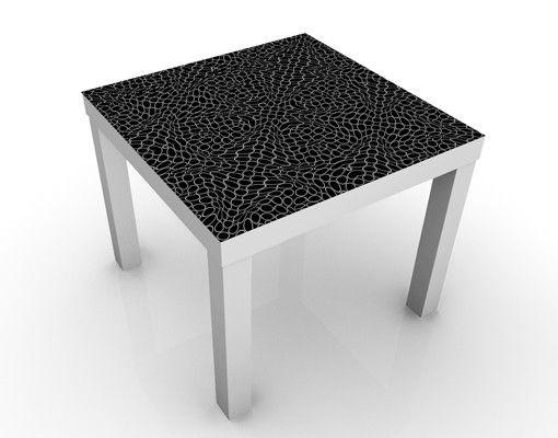 Beistelltisch - Abstraktes Muster Schwarz