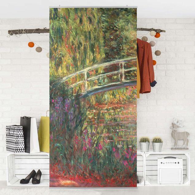 Raumteiler - Claude Monet - Japanische Brücke im Garten von Giverny - 250x120cm
