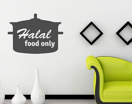 Wandtattoo No.1433 Halal food only