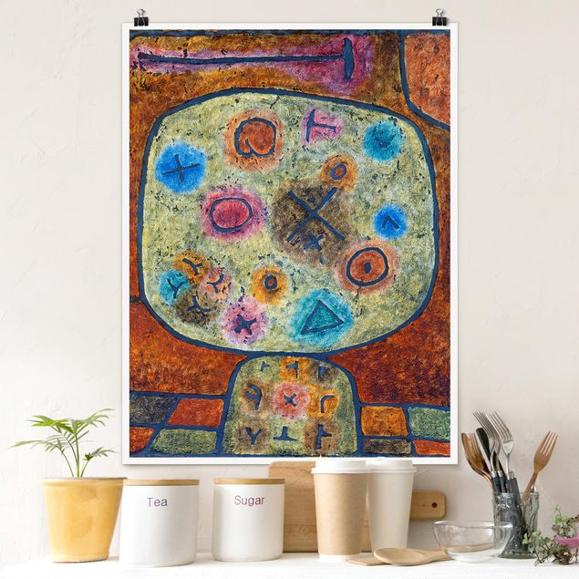 Poster - Paul Klee - Blumen in Stein - Hochformat 3:4
