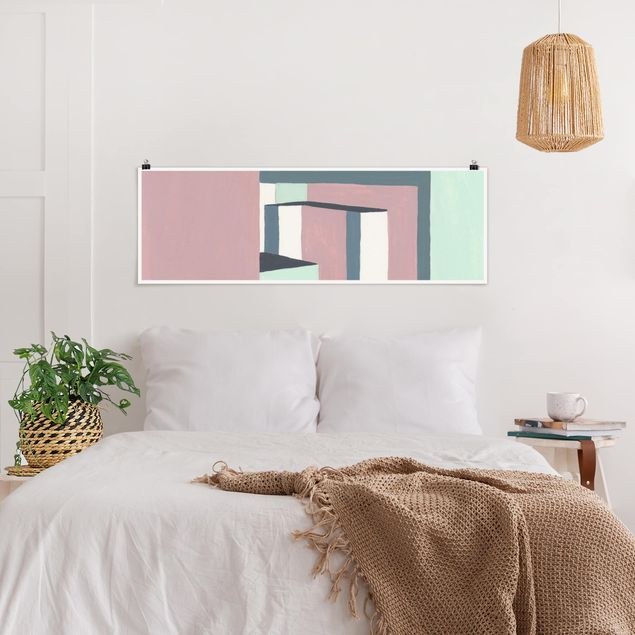Poster - Schatten der Wände III - Panorama Querformat