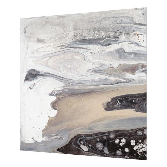 Glas Spritzschutz - Gesteinsschmelze III - Quadrat - 1:1
