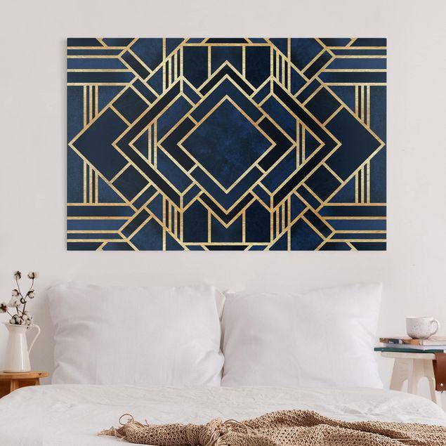 Leinwandbild - Art Deco Gold - Querformat 2:3