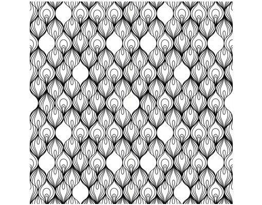Beistelltisch - Afrikanische Fäden Schwarz-Weiß
