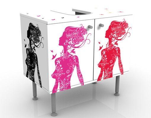Waschbeckenunterschrank - Deco Beauty - Badschrank Bunt