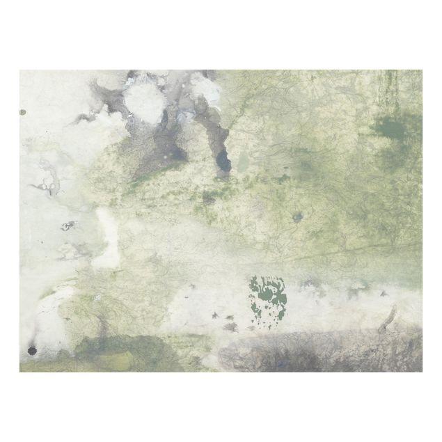 Glas Spritzschutz - Frieden, Liebe, Freude I - Querformat - 4:3