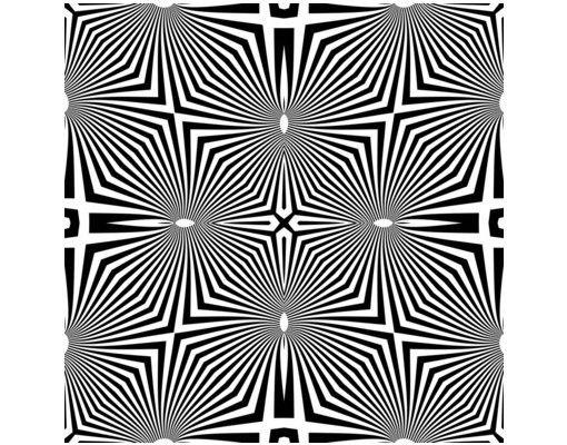 Beistelltisch - Abstraktes Ornament Schwarzweiß