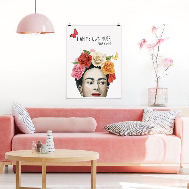 Poster - Fridas Gedanken - Muse - Hochformat 3:4