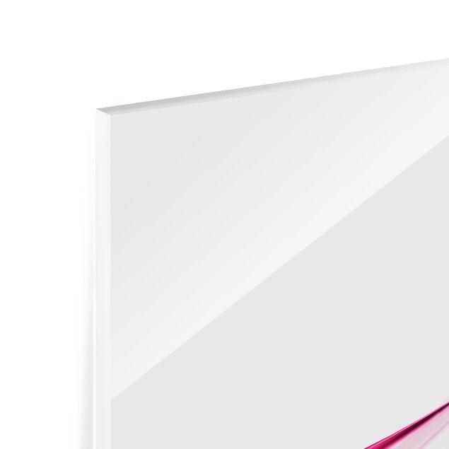 Glas Spritzschutz - Pink Dust - Quadrat - 1:1